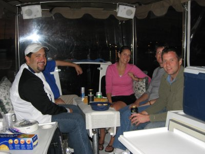 On a boat with Emelio, Michael, Eva, Kellie, Scott, Ruth Ann, and Mackin