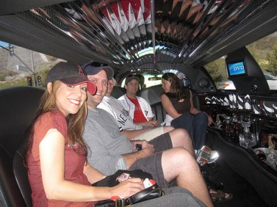 I a limo on the way to the Angels-Yankees game