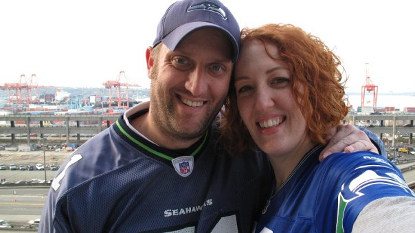 Joe and Kate at the Seahawks Game